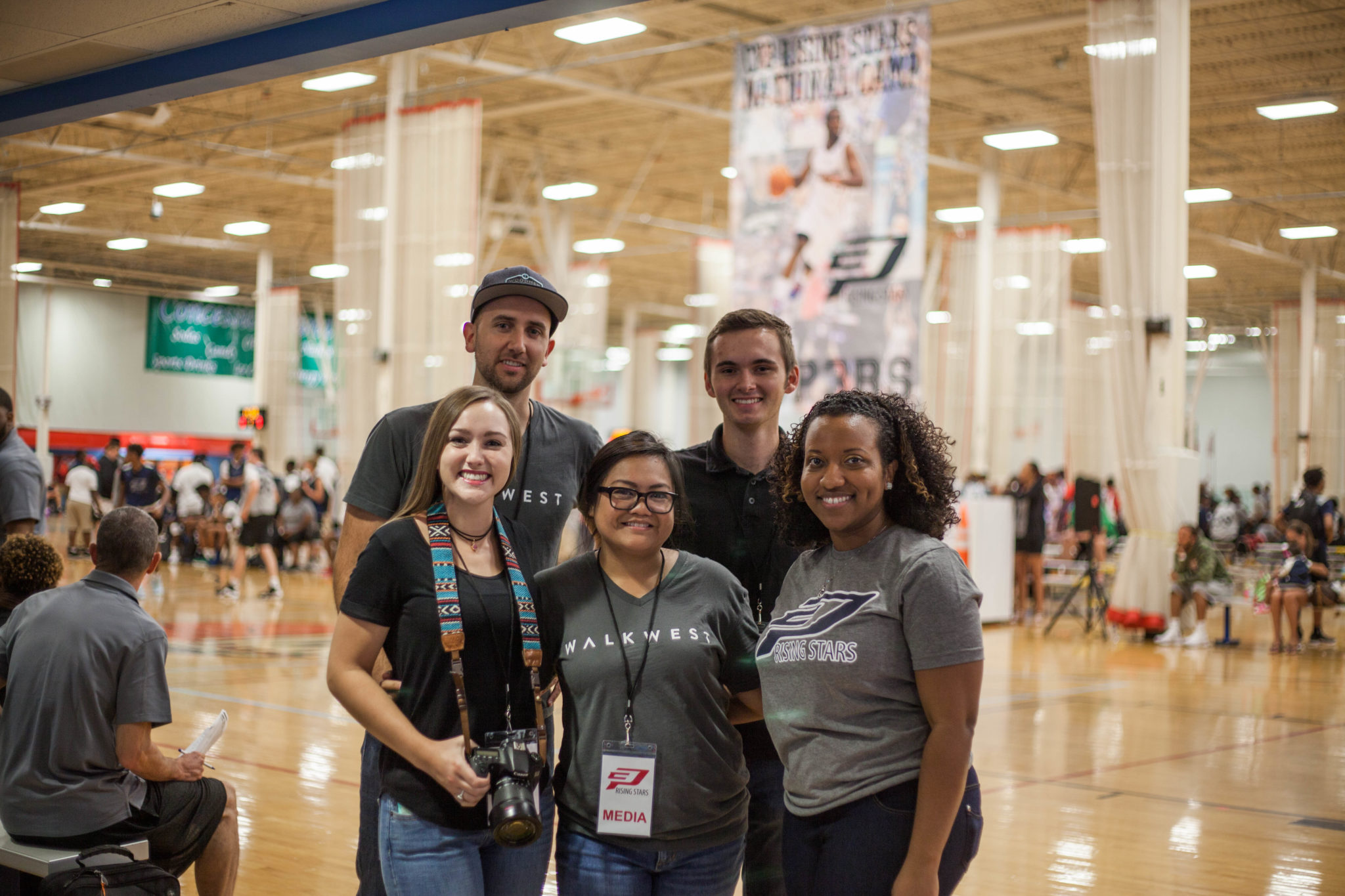 Walk West Digital Marketing Team at Chris Paul (CP3) Basketball Camp